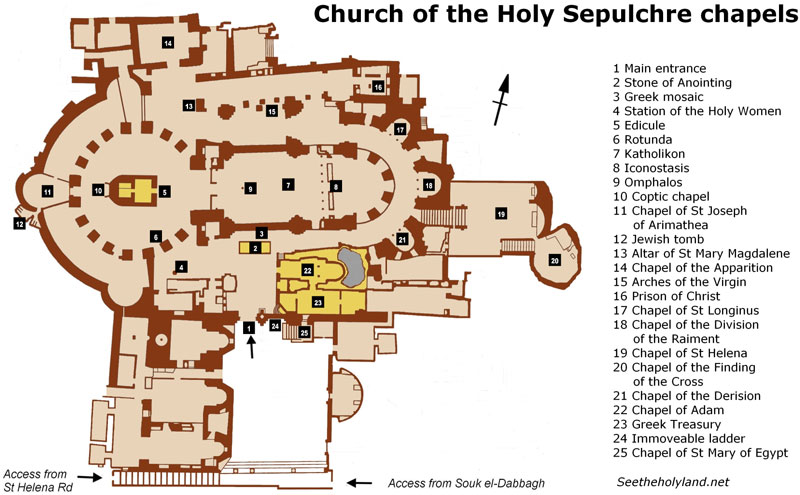 Church Of The Holy Sepulchre Chapels See The Holy Land