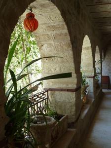 Cloister in Monastery of St Gerasimus (© Deror Avi)