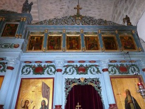 Upper part of iconostasis in monastery church (© Deror Avi)