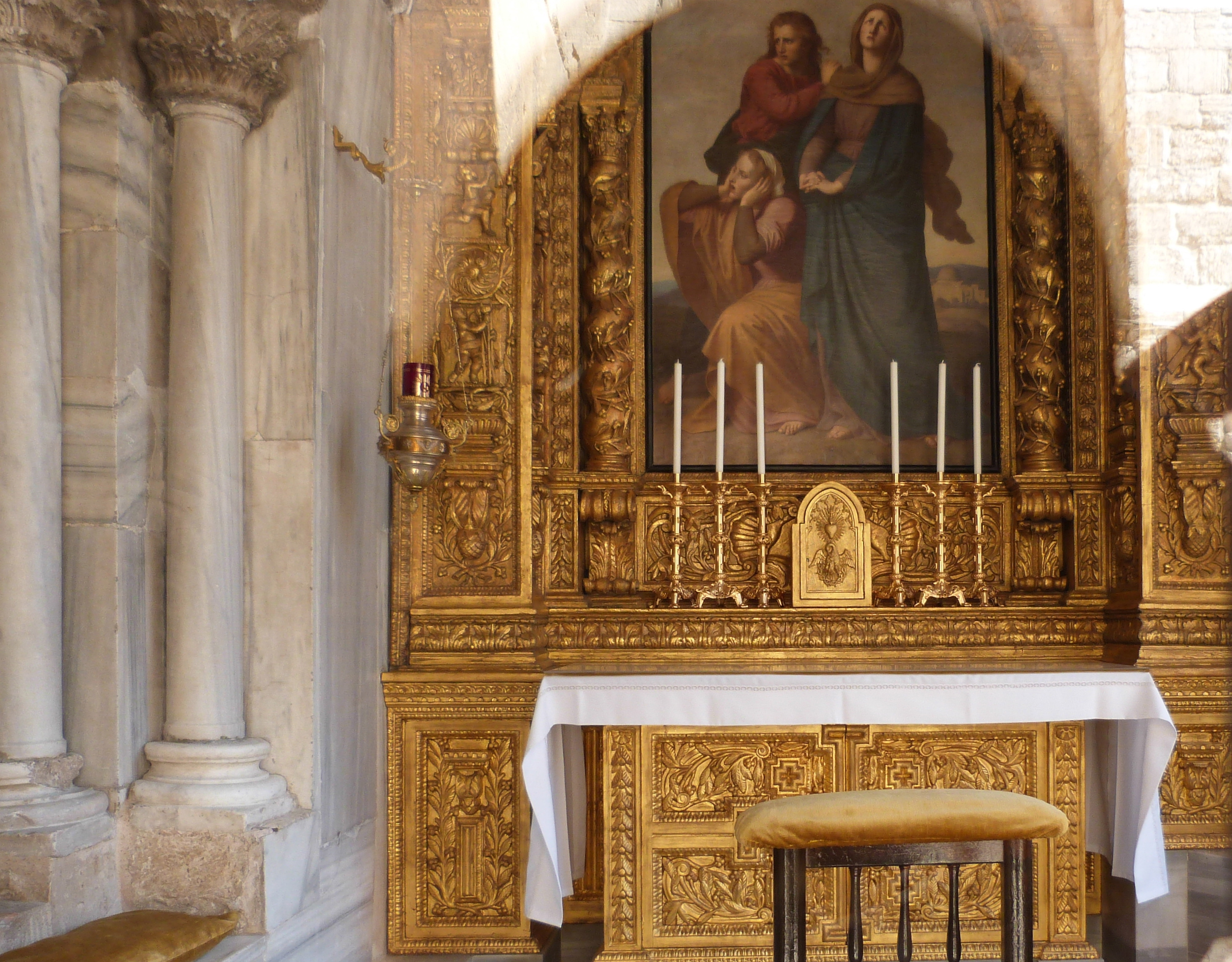 Chapel Of The Franks At Top Of Stairs To The Right Of Entrance To Church Of The Holy Sepulchre