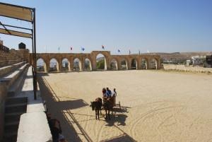 Chariot in Jerash hippodrome (Jean Housen / Wikimedia)