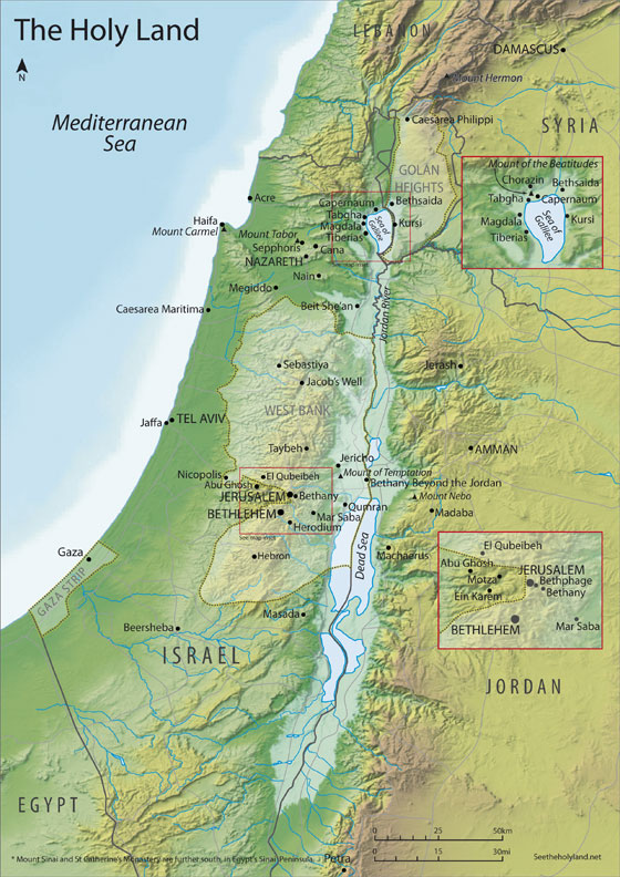 Holy Land Map Map of the Holy Land « See The Holy Land