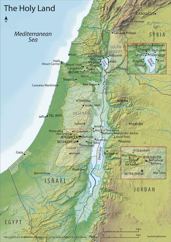 Map Of The Holy Land Map of the Holy Land « See The Holy Land