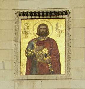 Icon of St Alexander Nevsky from the cathedral in Sofia, Bulgaria, that bears his name (Vassia Atanassova / Wikimedia)