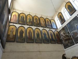 Icons of saints in St Alexander Nevsky chapel (Seetheholyland.net)