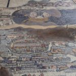 Madaba map, with Jerusalem in centre and Dead Sea in background (Matyas Rehak / Shutterstock)