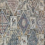 Part of the mosaic floor in the Church Complex at Jerash (Dennis Jarvis)